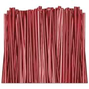 "4"" Metallic Twist Tie, Red"