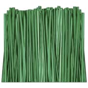 "4"" Metallic Twist Tie, Green"