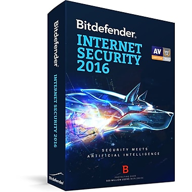 Bitdefender Internet Security 2016, 3 Users, 1 Year [Download]