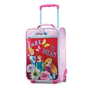 "American Tourister Disney Princess Pink 18"" Softside Upright Polyester with Vinyl Front (65774-2093)"