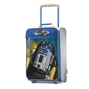 "American Tourister Disney Star Wars R2-D2 Blue 18"" Softside Upright Polyester with Vinyl Front (65774-4431)"