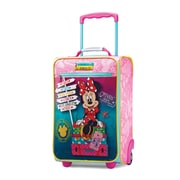 "American Tourister Disney Minnie Mouse Pink 18"" Softside Upright Polyester with Vinyl Front (65774-4451)"