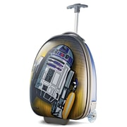 "American Tourister Disney Star Wars R2-D2 Blue 16"" Hardside Upright ABS/PC split case shell (65773-4431)"