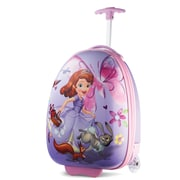 "American Tourister Disney Sofia the First Purple 16"" Hardside Upright ABS/PC split case shell (65773-4428)"