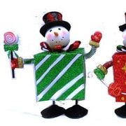 Drainage Industries Bouncing Snowman with Present Body