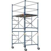 MetalTech SaferStack 10' H x 60'' W x 84'' D Steel Contractor Series Rolling Tower Scaffolding