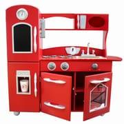 Teamson Kids Wooden Play Kitchen Set; Red