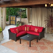 RST Brands Outdoor Deco 2 Piece Sectional Sofa Set with Cushions