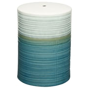 New Pacific Direct Swirl Garden Stool; Teal