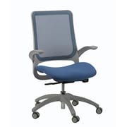 Eurotech Seating Hawk Mesh Office Chair w/ Arms; Blue