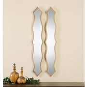 Uttermost Morvana Curved Metal Mirror (Set of 2)