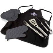 Picnic Time MLB BBQ Apron Tote Pro Grilling Tool Set; Milwaukee Brewers