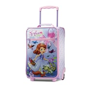 "American Tourister Disney Sofia the First Purple 18"" Softside Upright Polyester with Vinyl Front (65774-4428)"