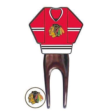 NHL Jersey Divot Tool, Chicago Blackhawks