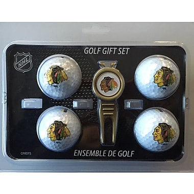 NHL 4 Balls and Divot Tool Gift Set, Chicago Blackhawks