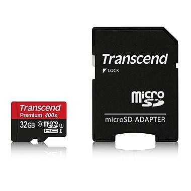 Transcend - Carte MicroSDHC 32 Go et lecteur de carte, UHS-I, (TS32GUSDU1-BUND)