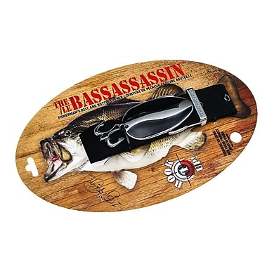 The Bassassassin Fishing Lure Belt, Black