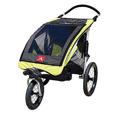 Allen Sports JTX1 One Child Aluminum Stroller / Trailer, Yellow