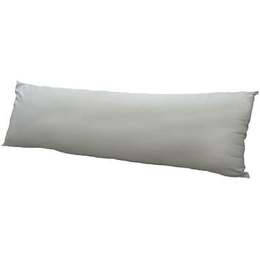 J.S. – Taie d'oreiller de corps en coton polyester, 54 po x 21 po, ultra douce, gris pierre
