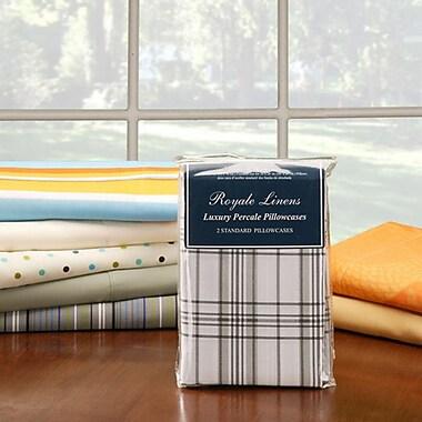 Royale Linens – Taies d'oreiller en mousseline, unies et à motif, 20 po x 30 po, paq./6