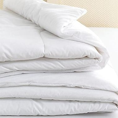 Home Comfort – Couette alternative au duvet, 250 fils par pouce carré, 100 % coton, lit 2 places, blanc