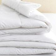 Home Comfort – Couette alternative au duvet, 200 fils par pouce carré, 100 % coton, lit 2 places, blanc