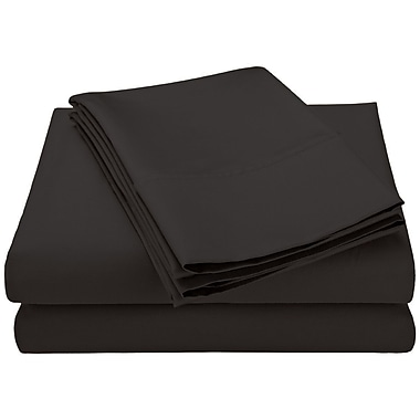 Swiss Collection 1800 Series Microfiber Sheet Set, Solid, Queen, Charcoal