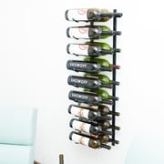VintageView Wall Series 18 Bottle Wall Mounted Wine Rack; Satin Black