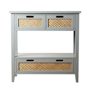 Abbyson Living Olvera Console Table; Steel Blue