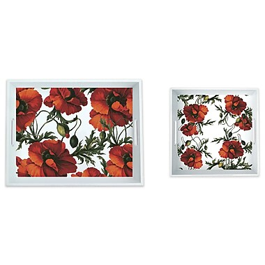 Caskata Melamine Papaver 2 Piece Platter Set