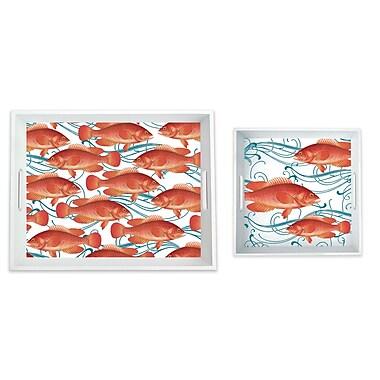 Caskata Melamine Fish 2 Piece Platter Set