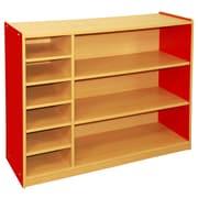 ECR4Kids Colorful Essentials  3 Level Multi-Purpose Cabinet; Red
