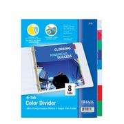 Bazic 3-Ring Binder Dividers; Case of 24