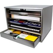 Victor Technology Desktop Organizer; Classic Silver