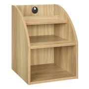 Convenience Concepts Designs 2 Go Desktop Organizer with Shelf; Light Oak