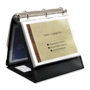 Lion Office Products Ring Binder Easel, 1-1/2'' Cap, Horizontal, Black