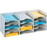 Paperflow 26.5'' Wide Stackable Horizontal Organizer; Gray