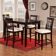 Atlantic Furniture Montego Bay 5 Piece Pub Table Set; Espresso