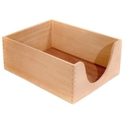 CARVER Desk Tray, Wood, 5'' Deep, Letter, Oak