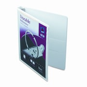 AVERY-DENNISON Durable Vinyl View Binder, 11 x 8-1/2, 1/2'' Capacity; White