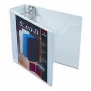 CARDINAL BRANDS INC. Clearvue Premium Slant-D Vinyl Presentation Binder, 3in Capacity; White