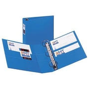 AVERY-DENNISON 3-Ring EZD Binder W/Label Holder, 3''Cap, 8-1/2''x11'', Blue