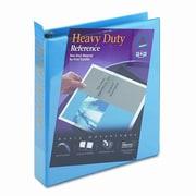 AVERY-DENNISON Nonstick Heavy-Duty Locking Round Ring View Binder, 1-1/2in Cap; Light Blue