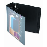 CARDINAL BRANDS INC. Clearvue Premium Slant-D Vinyl Presentation Binder, 3in Capacity; Black