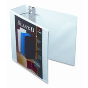 CARDINAL BRANDS INC. Clearvue Premium Slant-D Vinyl Presentation Binder, 4in Capacity; White