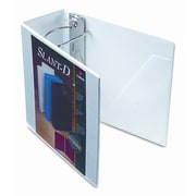 CARDINAL BRANDS INC. Clearvue Premium Slant-D Vinyl Presentation Binder, 5in Capacity; White