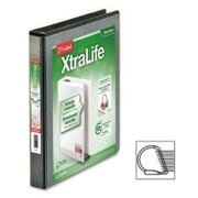 CARDINAL BRANDS INC. Clearvue Xtralife Slant-D Presentation Binder; Black