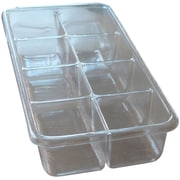 Shirley K's 8 Compartment Tray; Clear