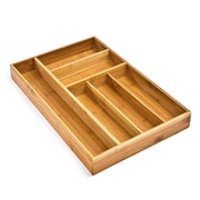 Seville Classics Large Bamboo Drawer Organizer Tray