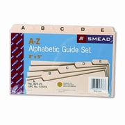 Smead Alpha Self-Tab Card Guides, 25/Set